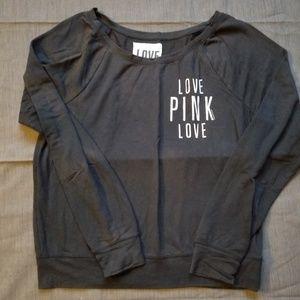 PINK black long sleeve shirt